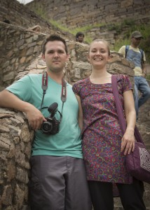William and Lynn in Hyderabad
