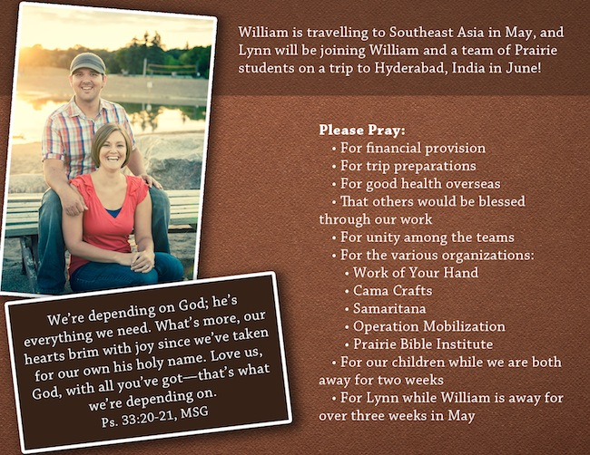 Prayer Card Spring 2013
