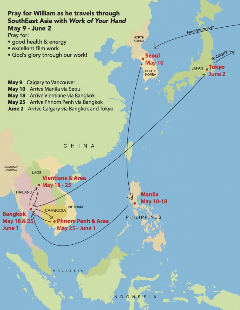 SouthEast Asia Itinerary Map